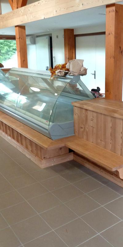 Agencement magasin et commerce en bois