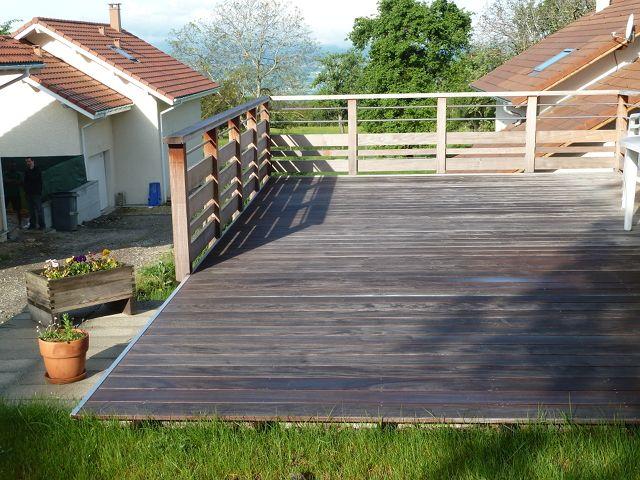 Détails terrasse extérieure en bois